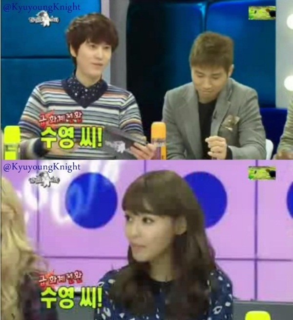 When Kyuhyun mentioned Sooyoung and asked about wonbim
