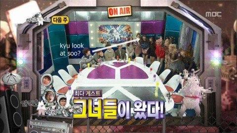 Kyuhyun look at Sooyoung